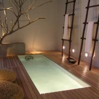 Японский дизайн интерьера ванной комнаты