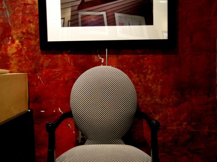 Дизайн гостиной. Красные тона.