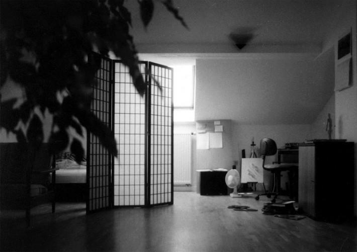 Спальная комната. Ширма.
