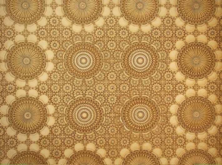 Потолок мечети Хассана II в Касабланке (фото 2)