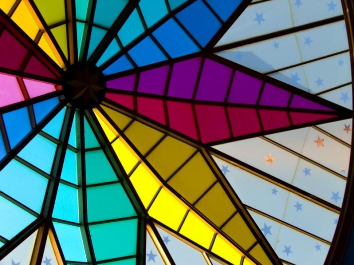 Витражный потолок — фото 56