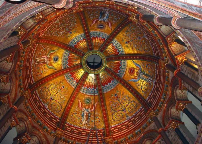 Потолок мемориала Джеймса Гарфилда в Кливленде (общий вид)