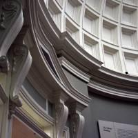 Кессонированный потолок ротонды в библиотеке