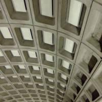 Прямоугольный кессоны на железобетонном потолке