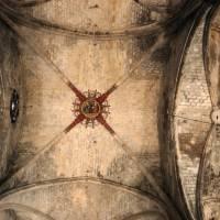 Кирпичный потолок с крестовым сводом