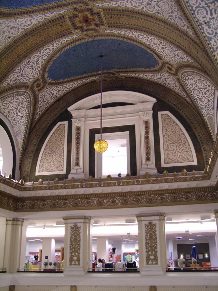 Потолок Тиффани в универсальном магазине Маршалл Филд в Чикаго (фото 6)