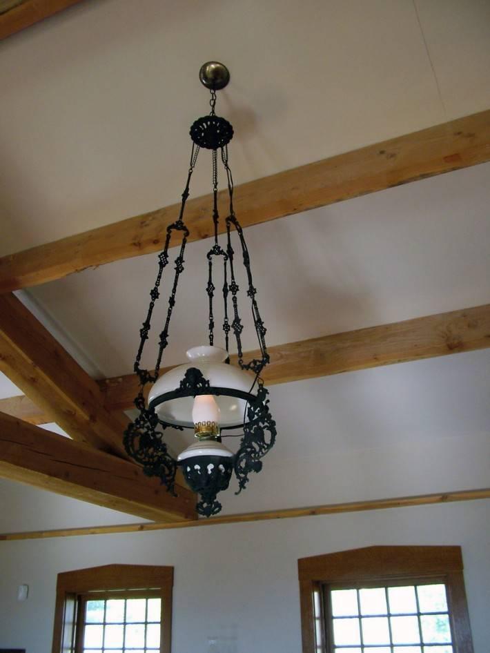 Деревянный потолок — фото 100