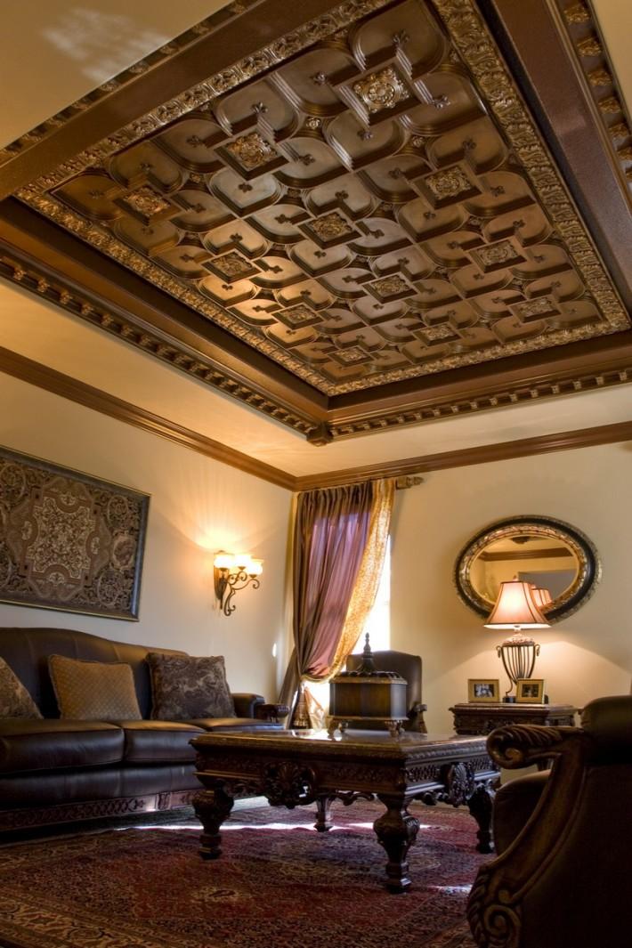 Деревянный потолок — фото 4