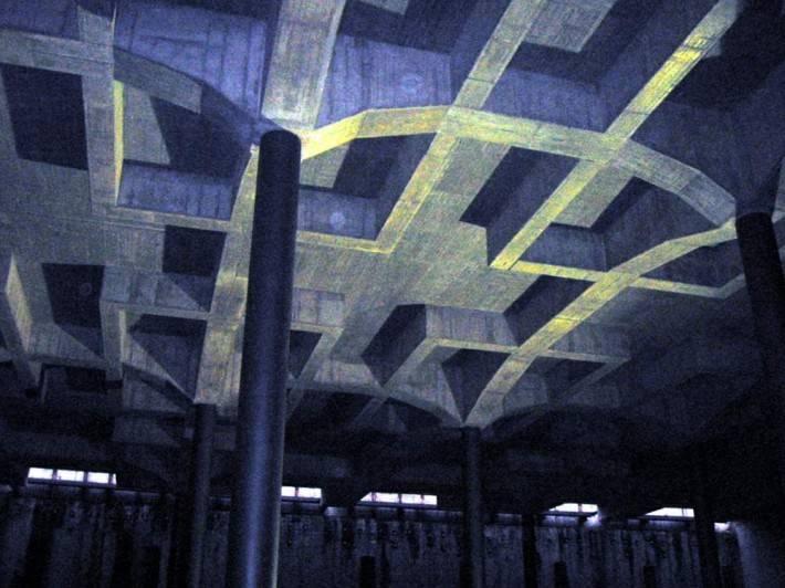 Каменный потолок в стиле конструктивизм