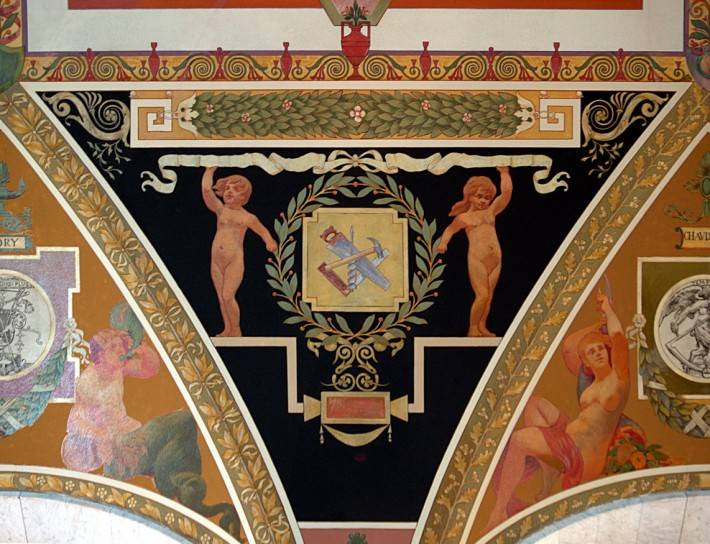 Фреска в здании Томаса Джефферсона (Библиотека Конгресса)