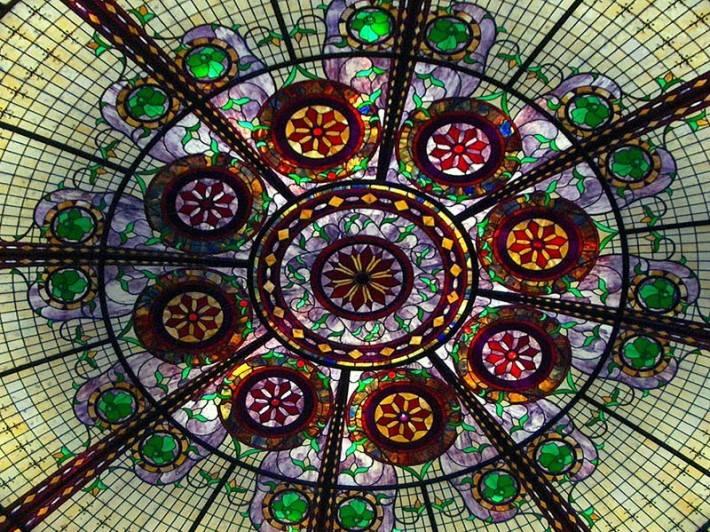 Витражный потолок — фото 42