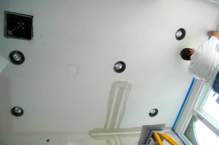 Потолок из гипсокартона — фото 17
