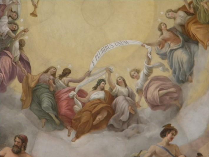 Роспись потолка — фото 78