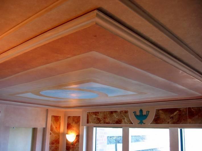 Потолок из гипсокартона — фото 62