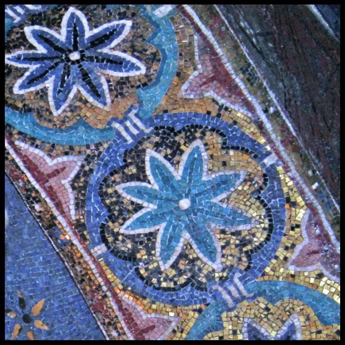 Фрагмент мозаики в основании купола Мартораны