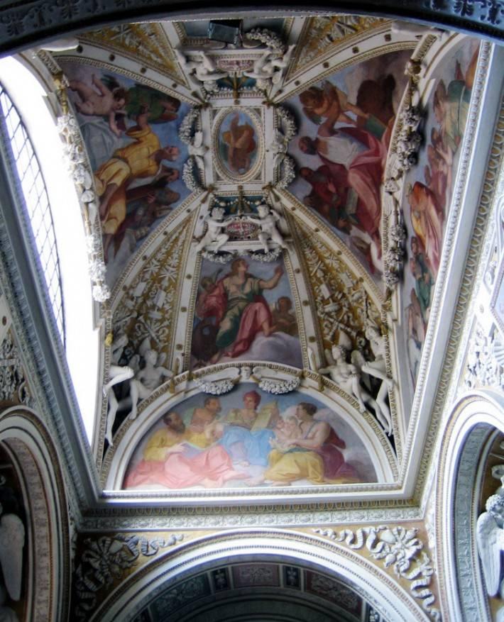 Фреска Джулио Маццони в капелле Теодоли