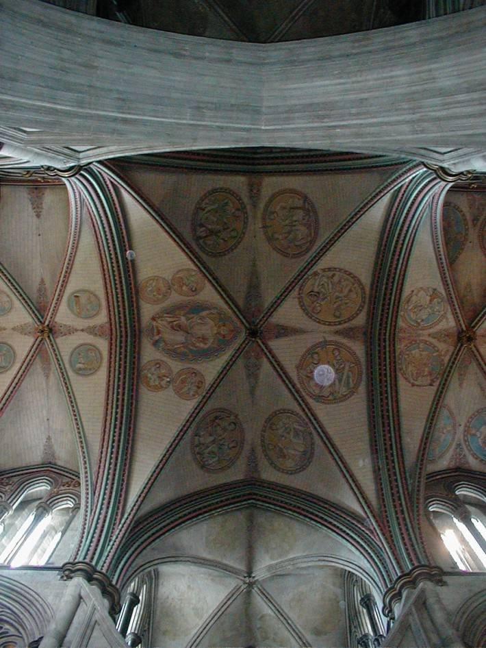 Мозаичный потолок в Солсберийском соборе