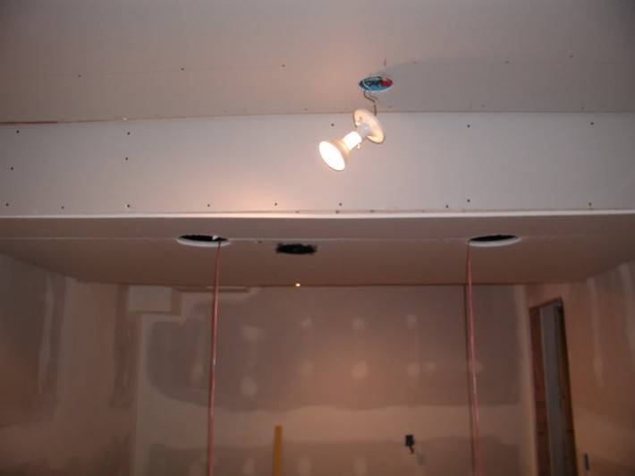 Потолок из гипсокартона — фото 30