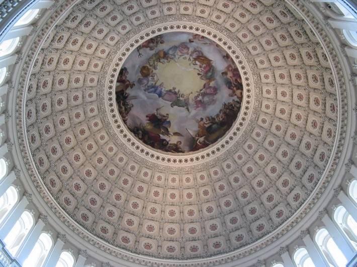 Фреска Апофеоз Вашингтона в Национальном зале штатов Капитолия, Вашингтон (фото 2)