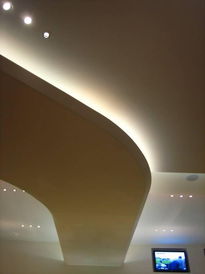 Потолок из гипсокартона — фото 52