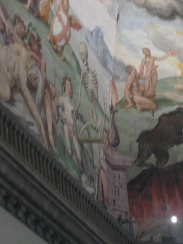 Фрагмент фрески в куполе собора Санта-Мария-дель-Фьоре, Флоренция