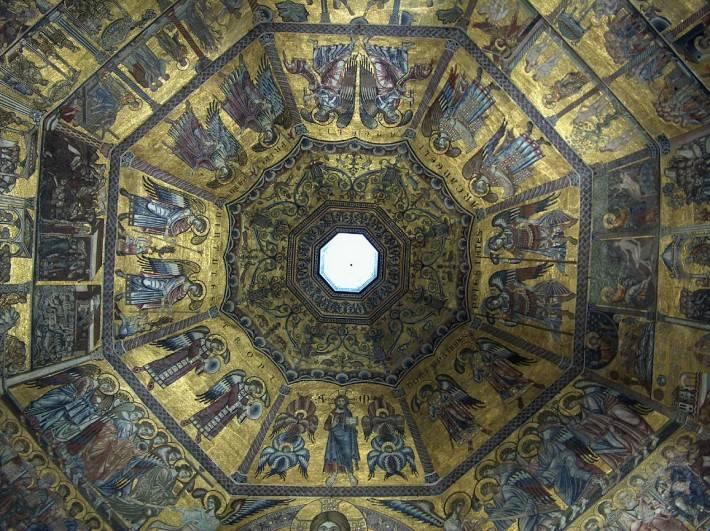 Мозаичный потолок Флорентийского Баптистерия (фото 2)