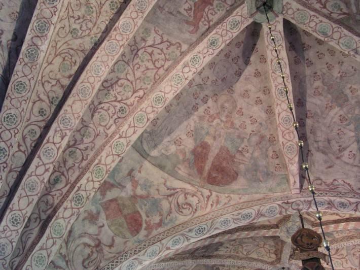 Роспись потолка в церкви города Осмо в Швеции