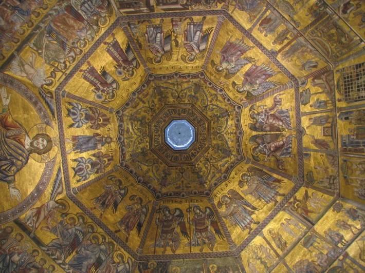 Мозаичный потолок Флорентийского Баптистерия
