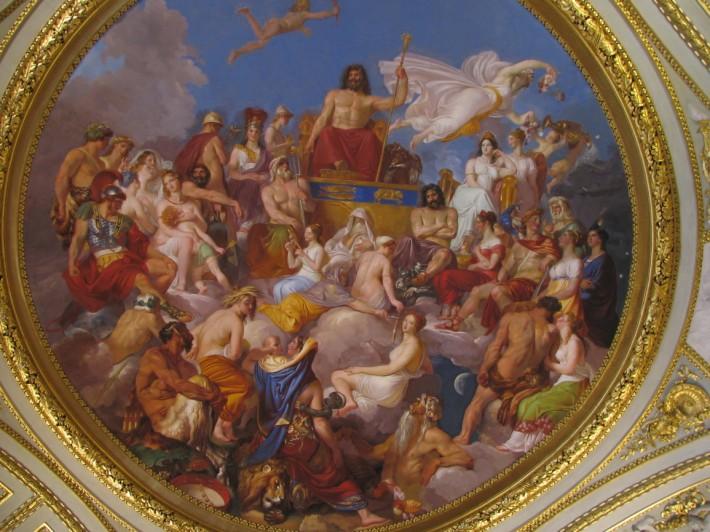 Древнегреческий сюжет в росписи потолка