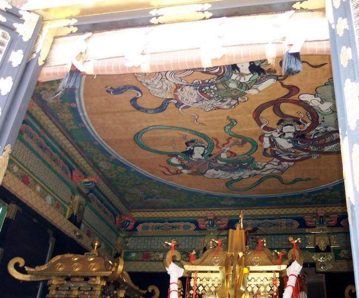 Японская роспись потолка по ткани
