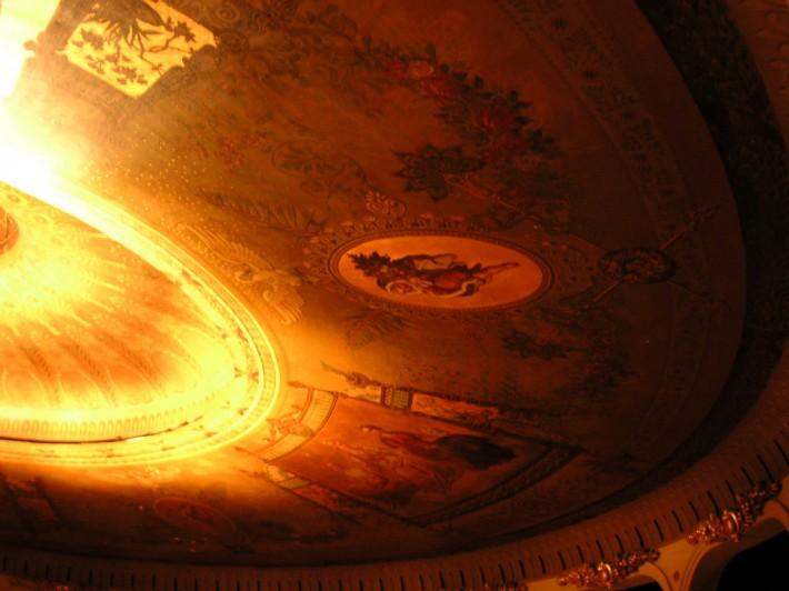 Роспись круглого купола по золоту