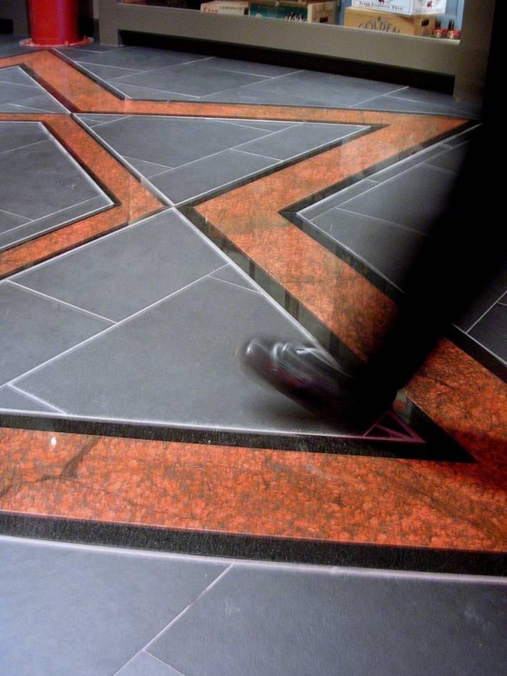 Пол из керамической плитки — фото 78