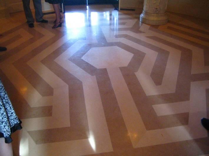 Пол из керамической плитки — фото 53