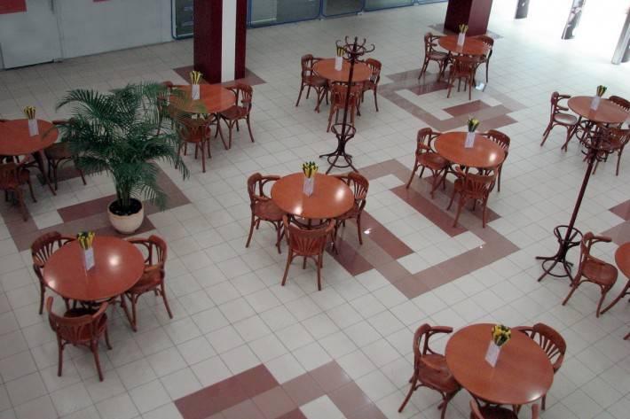 Пол из керамической плитки — фото 62