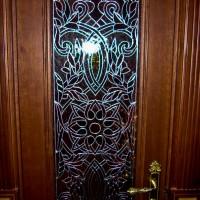 Декор витражом межкомнатной двери — фото 4