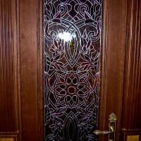 Декор витражом межкомнатной двери — фото 11