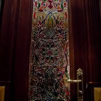 Декор витражом межкомнатной двери — фото 5