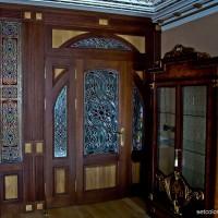 Витражная ниша у входной двери в квартиру — фото 2