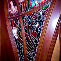 Декорирование витражом двери со стеклом — фото 2