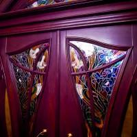 Декорирование витражом двери со стеклом