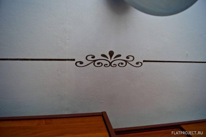 Роспись потолка по трафарету. Второй фрагмент.