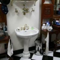 Линолеумный пол в ванной