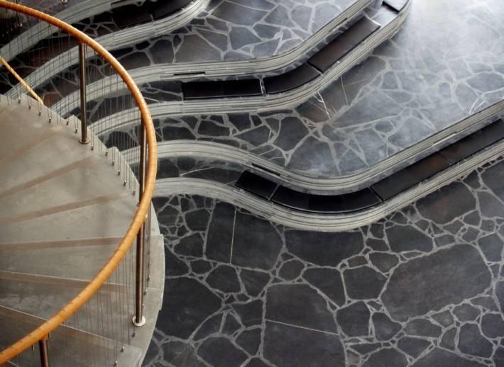 Пол из керамической плитки — фото 126