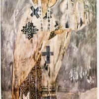 Архиепископ Моисей с Моделью Церкви из Сцены «Богоматерь и Ктиторы Волотовской Церкви»