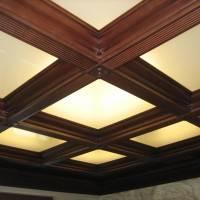 Кессонный потолок с подсветкой