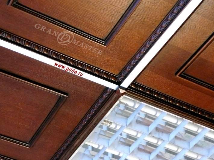 Подвесной потолок из дерева Армстронг