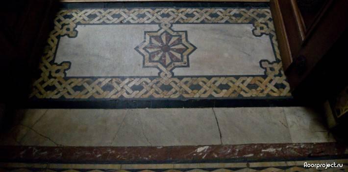 Пол из керамической плитки — фото 81