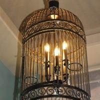 Лампа в клетке