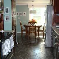 Пол на кухне из керамической плитки