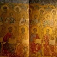 Апостолы и ангелы — Западный свод центрального нефа. Южный склон.
